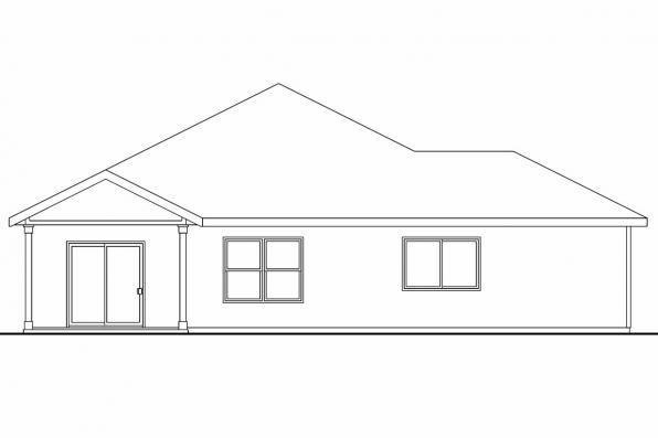 Ranch House Plan - Ravenden 30-712 - Rear Elevation