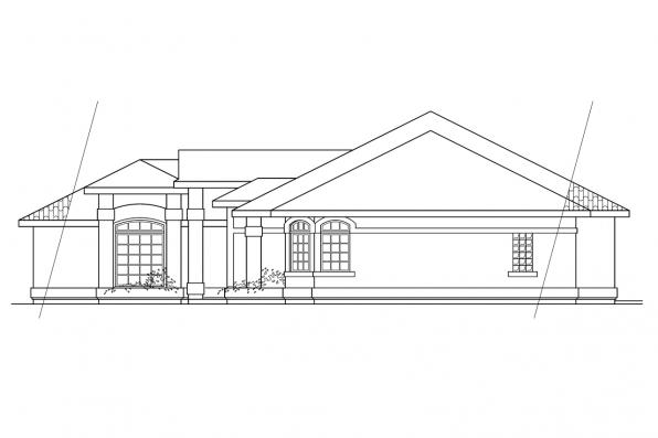 Ranch House Plan - Richmond 11-048 - Left Elevation