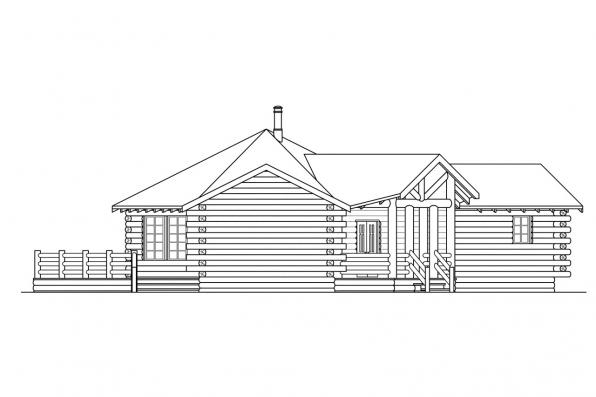 Ranch House Plan - Ridgeline 10-062 - Right Elevation