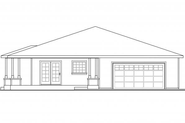 Ranch House Plan - Sahalie 30-768 - Left Elevation