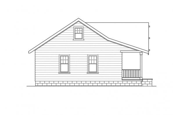Ranch House Plan - Sandberg 30-083 - Right Elevation