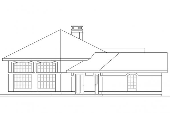Ranch House Plan - Santa Ana 11-148 - Right Elevation