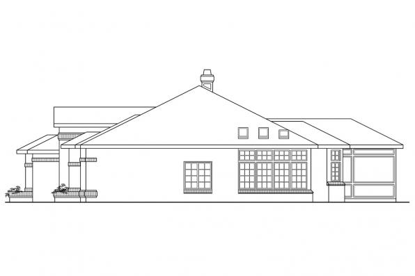 Ranch House Plan - Sedalia 10-231 - Left Elevation