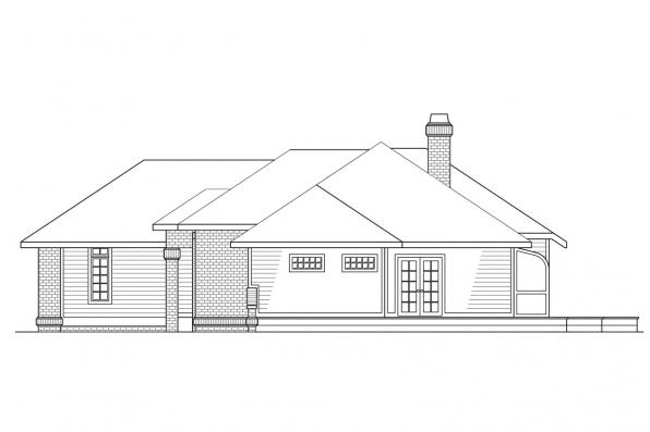 Ranch House Plan - Somerset 10-057 - Left Elevation