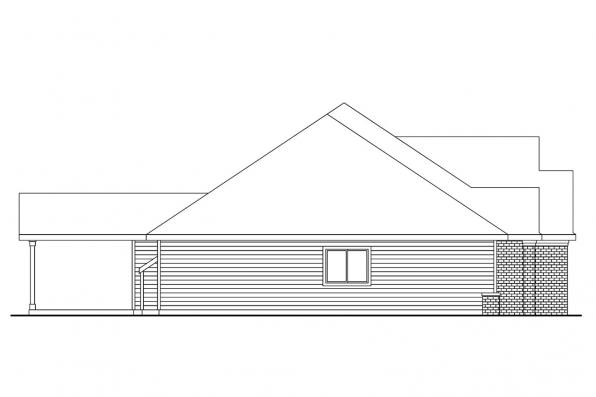 Ranch House Plan - Spencer 30-537 - Right Elevation