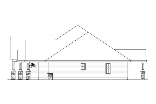 Ranch House Plan - Springheart 10-530 - Left Elevation