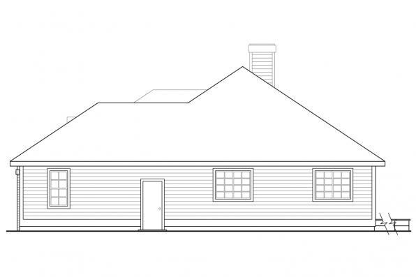 Ranch House Plan - Stayton 10-040 - Left Elevation