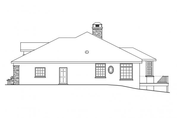 Ranch House Plan - Stevenson 10-502 - Left Elevation