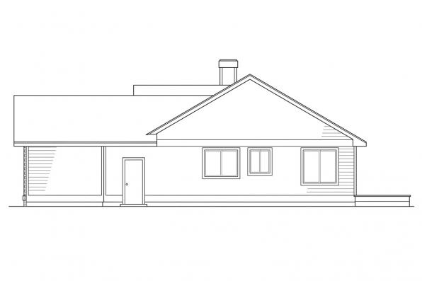 Ranch House Plan - Ventura 10-063 - Left Elevation