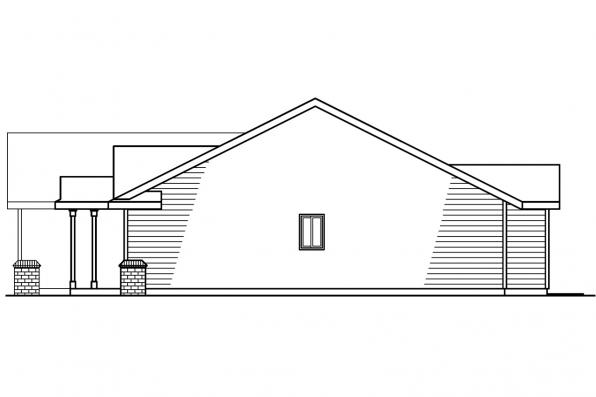 Ranch House Plan - Walsh 30-247 - Left Elevation
