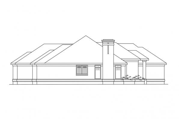 Ranch House Plan - Westbrook 30-065 - Right Elevation
