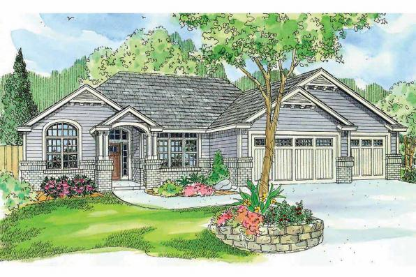 Ranch House Plan - Windsor 30-678 - Front Elevation