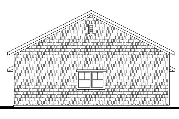RV Garage Plan 20-042 - Left Elevation