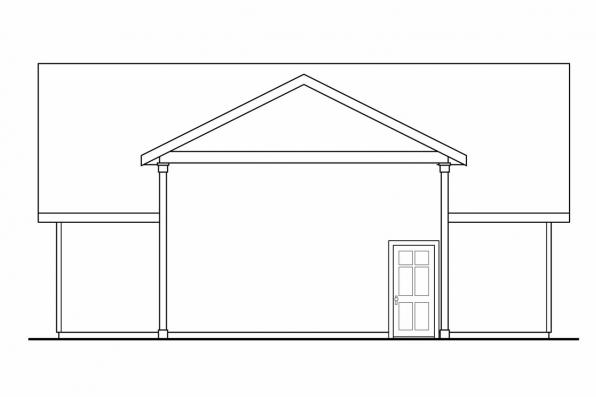 RV Garage Plan 20-046 - Right Elevation