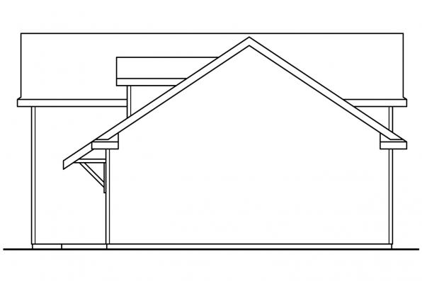 RV Garage Plan 20-169 - Left Elevation