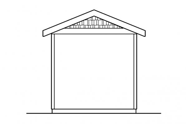 Storage Shed Design 20-041 - Rear Elevation