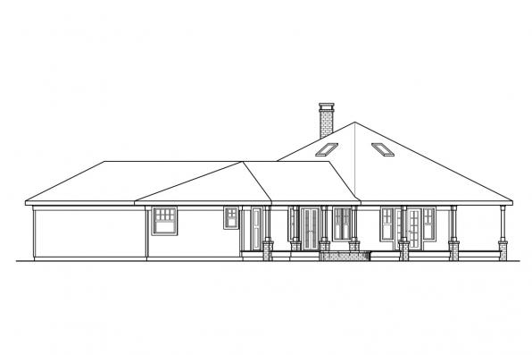 Shingle Style House Plan - Oceanview 10-258 - Left Elevation