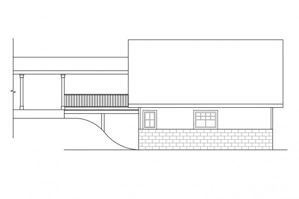 Sloped Lot Garage Plan 20-013 - Right Elevation