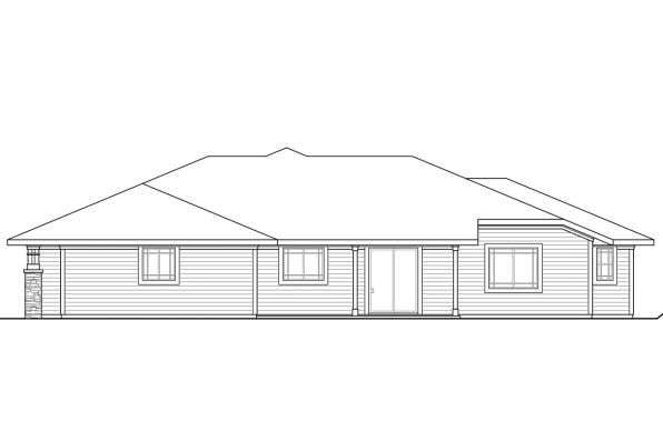 Sloped Lot House Plan - Edenbridge 30-626 - Rear Elevation