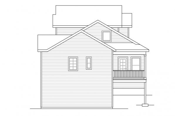 Sloped Lot House Plan - Farmington 31-068 - Left Elevation