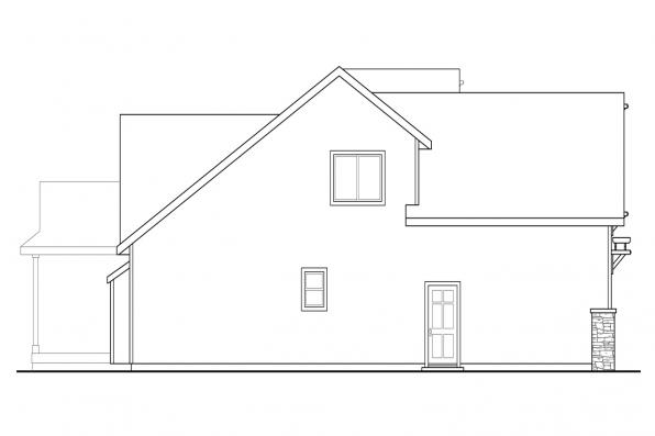 Sloping Lot House Plan - Brookville 30-928 - Right Elevation