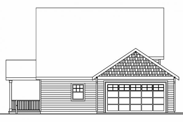 Sloping Lot House Plan - Fillmore 30-589 - Rear Elevation