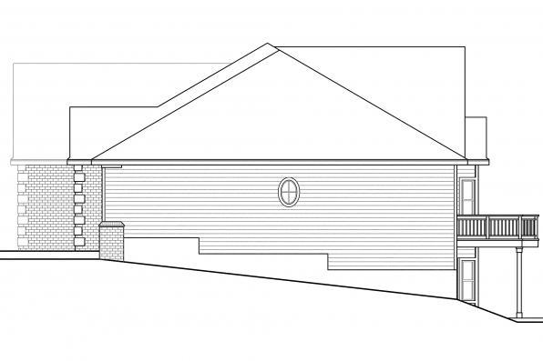 Sloping Lot House Plan - Hampshire 30-799 - Left Elevation