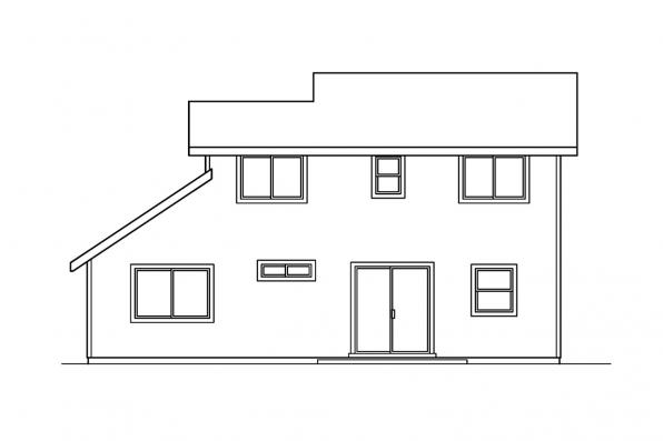 Small House Plan - Aldridge 30-321 - Rear Elevation