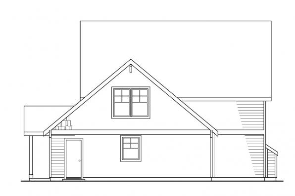 Small House Plan - Ambridge 10-323 - Rear Elevation