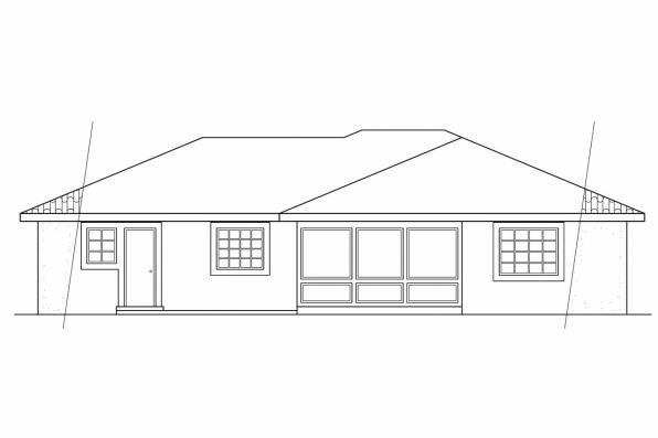 Small House Plan - Anton 11-080 - Rear Elevation