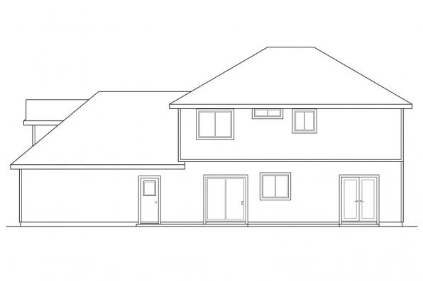 Small House Plan - Ashwood 30-092 - Rear Elevation