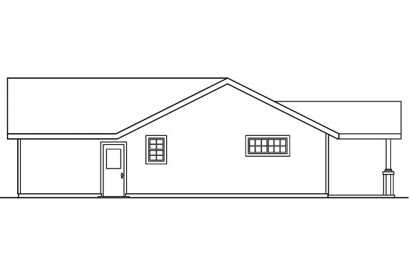 Small House Plan - Branell 30-485 - Rear Elevation