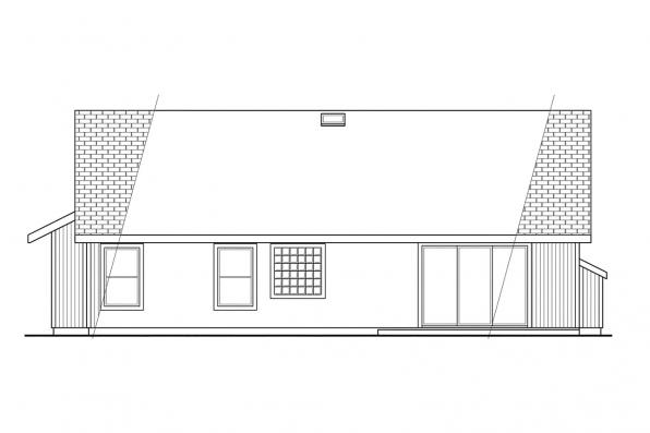 Small House Plan - Briggsdale 30-084 - Rear Elevation