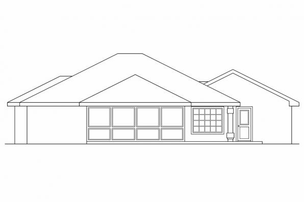 Small House Plan - Calabro 11-083 - Rear Elevation