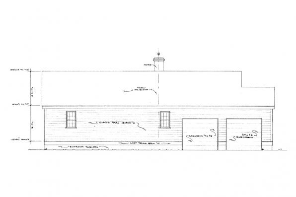 Small House Plan - Demerara 41-004 - Rear Elevation