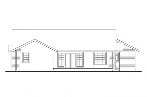 Small House Plan - Easton 10-133 - Rear Elevation