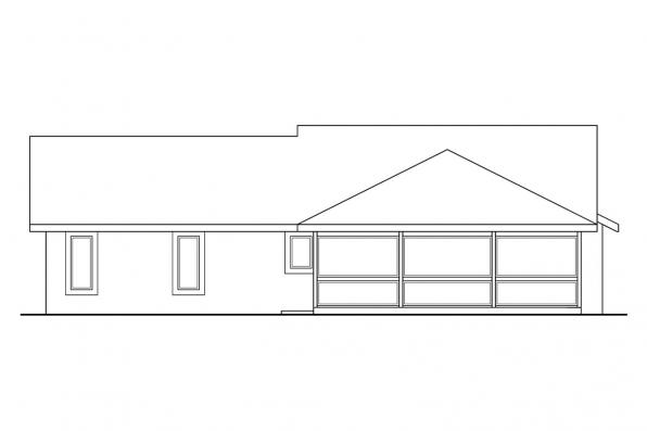 Small House Plan - Florosa 11-090 - Rear Elevation
