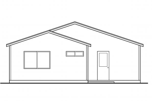 Small House Plan - Greer 30-484 - Rear Elevation
