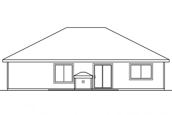Small House Plan - Keizer 30-230 - Rear Elevation