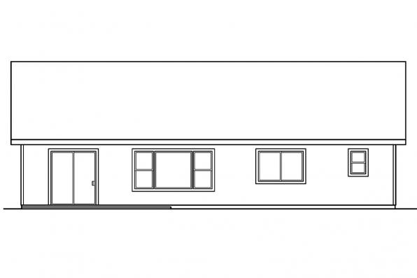 Small House Plan - Lamont 30-235 - Rear Elevation
