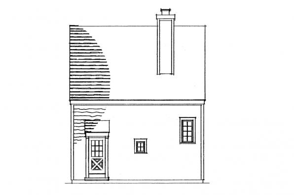 Small House Plan - Langford 42-014 - Rear Elevation