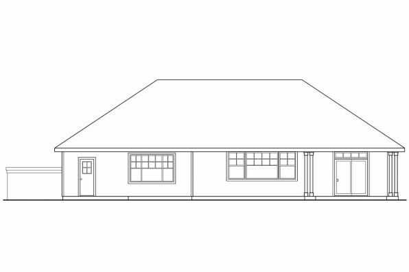 Small House Plan - Lindgren 11-122 - Rear Elevation