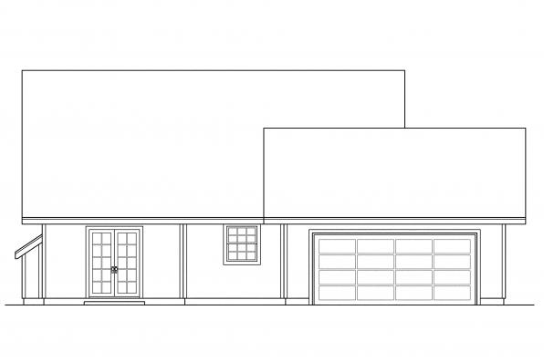 Small House Plan - Lockhart 30-104 - Rear Elevation