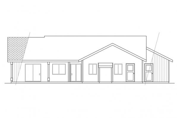 Small House Plan - Manning 10-108 - Rear Elevation