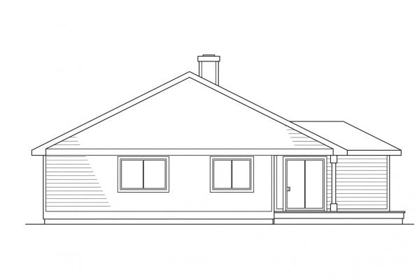 Small House Plan - Shelton 10-033 - Rear Elevation