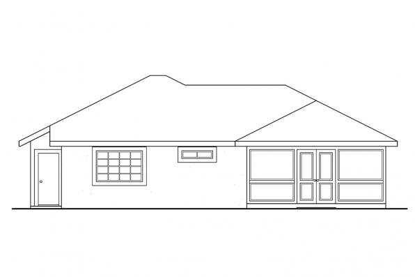 Small House Plan - Topaz 11-087 - Rear Elevation