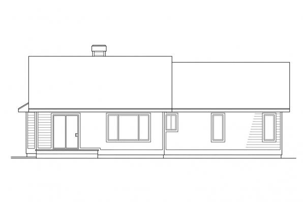 Small House Plan - Ventura 10-063 - Rear Elevation