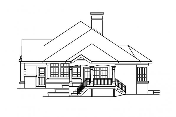 Southwest House Plan - Applegate 10-403 - Left Elevation