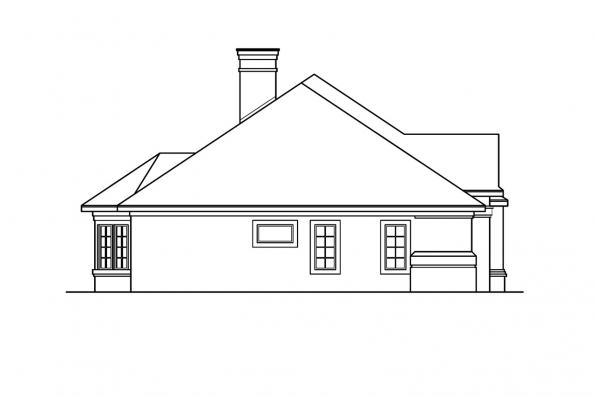 Southwest House Plan - Applegate 10-403 - Right Elevation