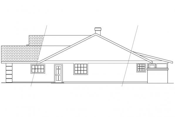 Southwest House Plan - Arcadia 11-003 - Left Elevation